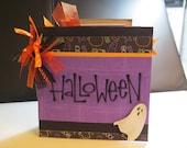 Halloween Handmade mini scrapbook album