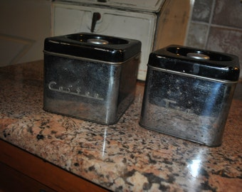 1950s canister set - tea and coffee