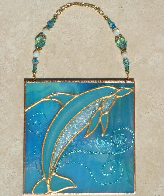 beaded dolphin suncatcher