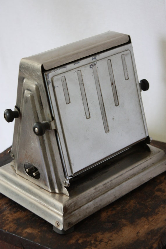 Antique Electric Toasters ~ Antique ge hotpoint toaster side loading no cord