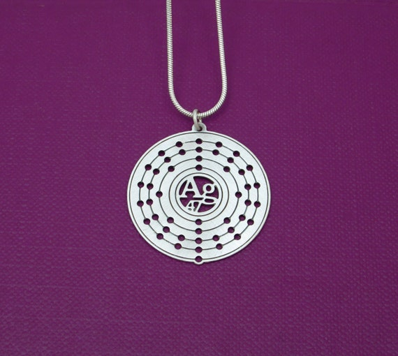 Periodic table silver atom necklace electron configuration like this item urtaz Choice Image