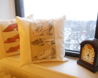 Set of 2 pillow covers! Vintage Shoes Combo set Decorative printed pillow covers