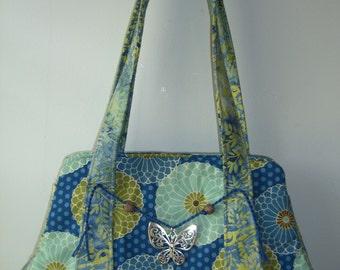 Blue and Green Batik purse