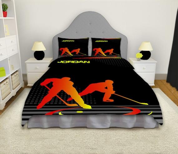 Hockey Comforter Hockey Bedding Hockey by EloquentInnovations