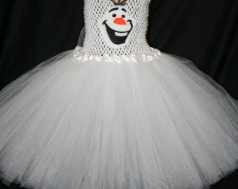 Olaf Inspired Tutu Dress, Olaf Tutu Dress, Frozen Tutu Dress, Olaf, Snowman Tutu Dress