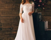 Milk vintage style wedding dress