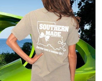 "Short Sleeve - ""Louisiana  Girl"" Comfort Color Tee's"