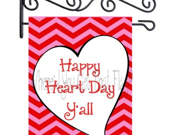 Custom Personalized Garden Sign Happy Heart Day Y'all
