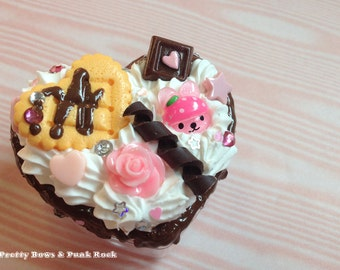 Kawaii Chocolate and Rose Decoden Box