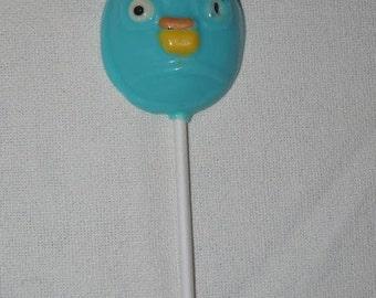 Set of 6 Blue Angry Bird Lollipop