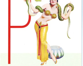 P is for Perverse Pin-Up Girl Poster