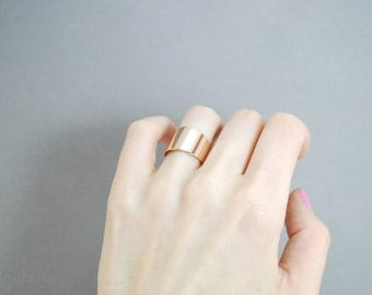 Rose gold wide band ring - Gold wide band ring- Band gold ring- Gold plated jewelry- Rings for women - Trending band rings  - Wide band ring