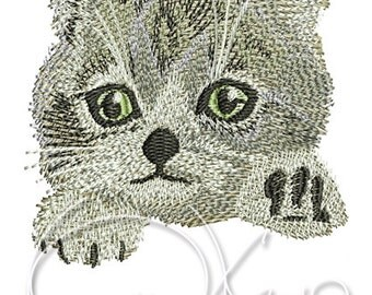 MACHINE EMBROIDERY FILE - Kitty