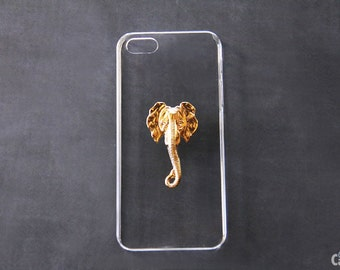 Transparent iPhone 6 Case Elephant iPhone 5 5s Animal Case iPhone 6s Elephant Gold Clear Samsung iPhone 7 iPhone 6 Plus Cute iPhone 6s Plus