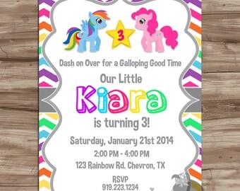 My Little Pony Birthday Invitation, My Little Pony Birthday Invite, My Little Pony Invitation Invite - DiY Digital Printable, JPG File