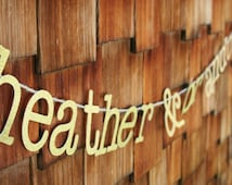Glitter Personalized Banner - Birthday, Wedding, Bridal Shower, Graduation - Gold or Silver