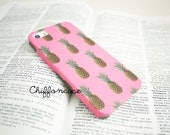 PInk Pineapple iPhone 5s Case , iPhone 5 Case, Cute iPhone 5s Cover, Unique iPhone Case,  iPhone 5 Cases