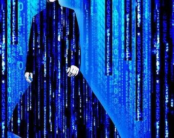 Matrix Neo Keanu Reeves 2 - Giclee Print