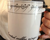 Ring Lord elvish inspired Precious Mug . You can have your ring and drink from it too. Enchanted ring mug