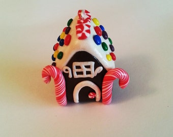 Polymer Clay Gingerbread House Ornament