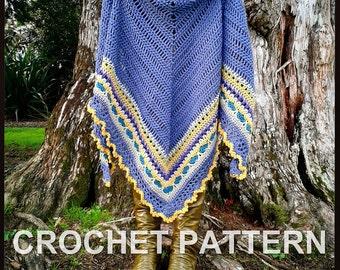 Crochet Shawl Pattern ~ Instant Download ~ Sunday Shawl
