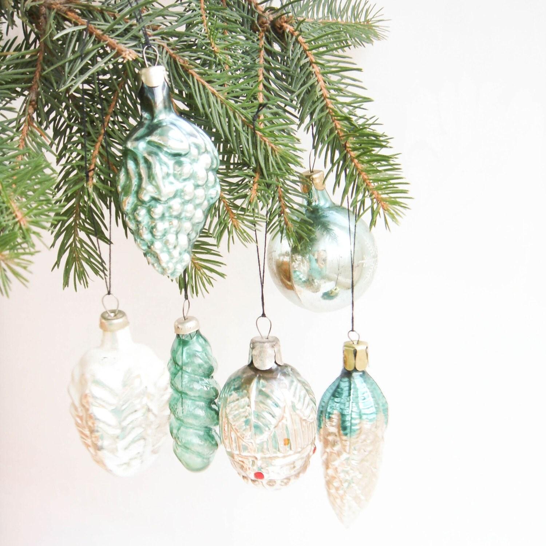 Christmas Tree Ornaments Etsy: Christmas Tree Glass Ornaments Soviet Vintage By