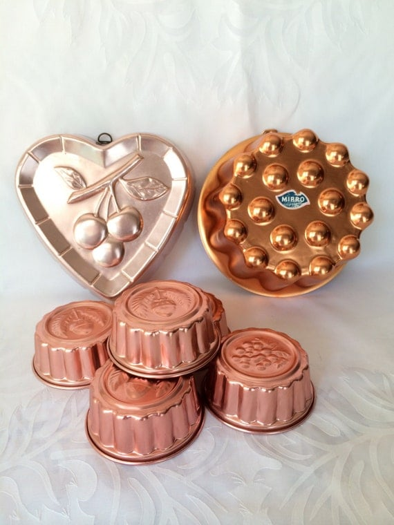 copper baking molds