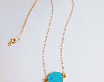 Dainty Turquoise Drop Necklace