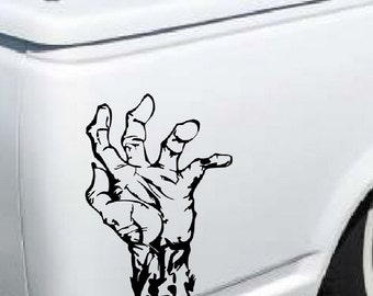 Zombie Hand Decal - sticker wall art car auto truck window graphics walking dead  room decor emo goth gothic metal AA38