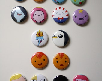 Adventure Time Buttons - Pick Your Own