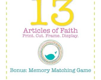 PRINTS • 13 Articles of Faith (Brights) & Bonus Game
