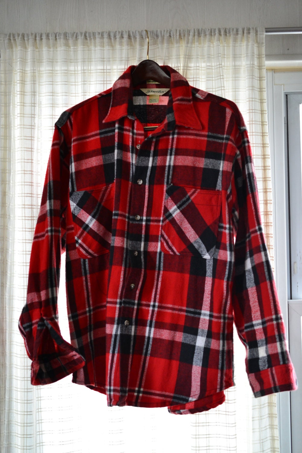 Big Mac St John 39 S Bay Men 39 S Heavy Flannel Shirt L