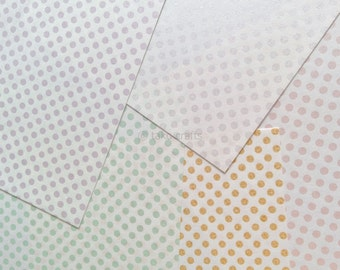 Beautiful Japanese Screen Print Modern Dot Origami Paper - 20 Sheets of Chiyogami - Made in Japan Washi