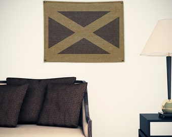 Scotland Burlap Flag