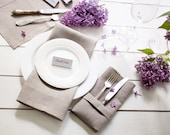 Linen napkins set of 6 - Linen table napkin cloths - weddings napkins - Gray napkins set of 6