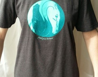 Find Your Balance, horse tee unisex adult fit
