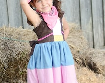 Sheriff Callie Dress, Sherif Callie Inspired, Cowgirl Dress, Sheriff Callie Birthday, Sheriff Callie Costume, Sheriff Callie Outfit