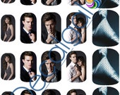 Fifty Shades of Grey Full Nail Art Water Transfer Decal - Waterslide Paper - Water Slide Paper