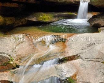Wall-Ready Waterfall Photo Print Mounted Falls New Hampshire