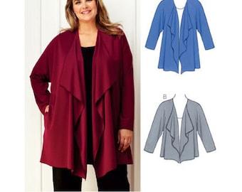 Sewing Pattern - Womens (Plus) Pattern, Cardigans Pattern - Kwik Sew #K3753