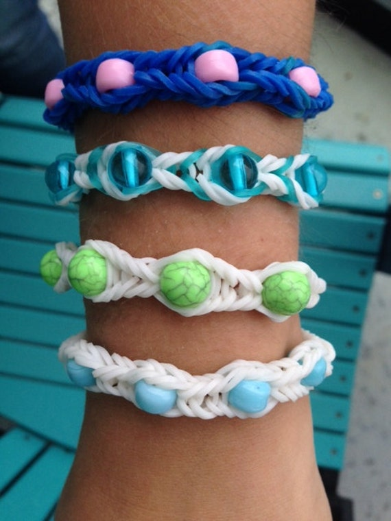 Fishtail Loom Bracelet With Beads Loom Bracelets With Beads