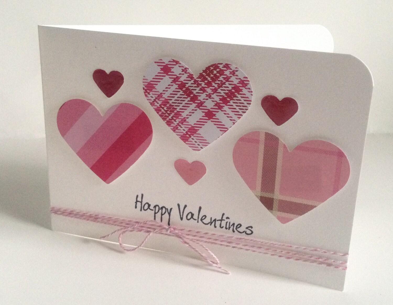 simple elegant handmade love heart card 'happy