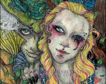 Alice in Wonderland - ACEO print - Take A Look Outside The Gaze