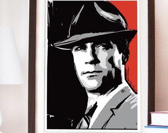 Mad Men Pop Art Don Draper - Diferent sizes - Fan Art Illustration.TV Serie Poster artwork