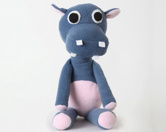 Hippo handmade stuffed animal toy