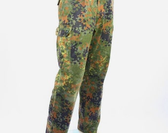 German army camouflage combat trousers cargo pants bottoms army military Bundeswehr camo flecktarn
