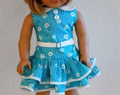 "1930s Ruffled Play Dress for 18"" American Girl Dolls"