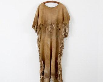 vintage Native American dress,  buckskin dress