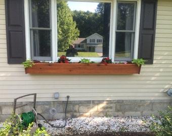 Window Planter Flower Boxes, Cedar