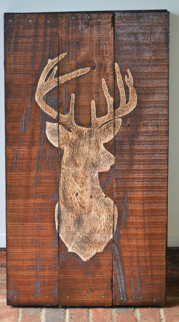 3d Wood Deer Head